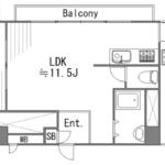 亀有中川マンション(1LDK)※図面と現況に相違がある場合は現況を優先します。(間取)